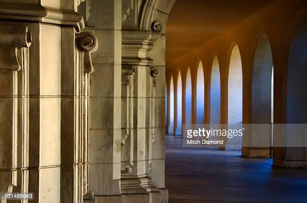Balboa Park  exterior hallway
