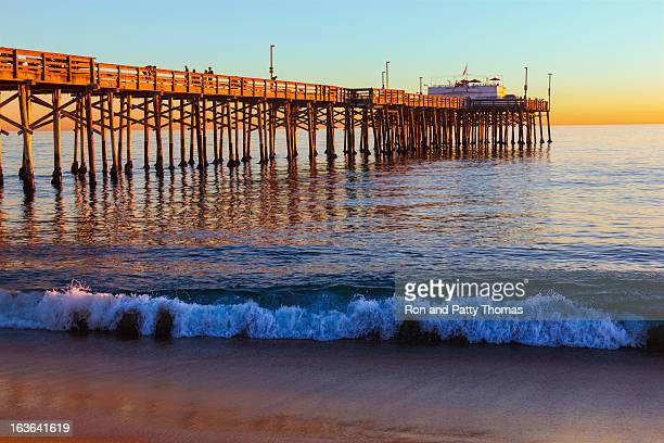 balboa pier, orange county california (p) - newport beach stock pictures, royalty-free photos & images