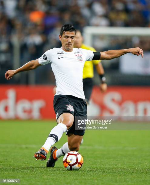 Balbuena of Corinthians of Brazil in action during the match against Independiente for the Copa CONMEBOL Libertadores 2018 at Arena Corinthians...