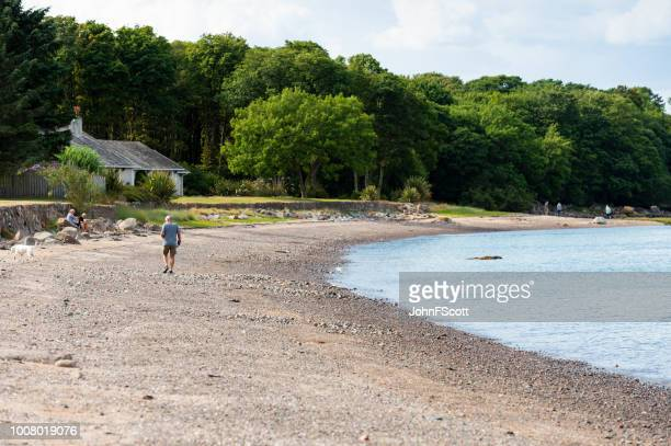 Balcary Bay beach in south west Scotland