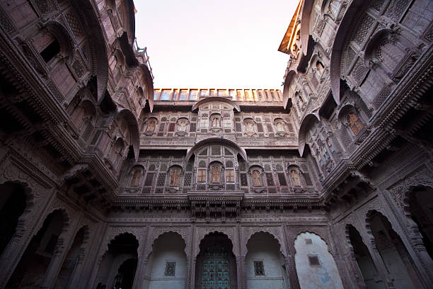 Balconies at Mehrangarh Fort