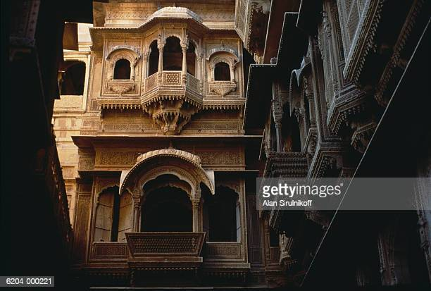 balconies in courtyard - sirulnikoff stock pictures, royalty-free photos & images