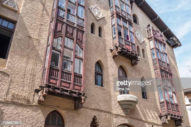 ビトリア・ガステイズの旧市街のバルコニー - アラバ県 ストックフォトと画像