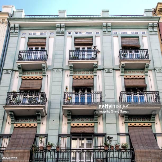 Balconies in Valencia