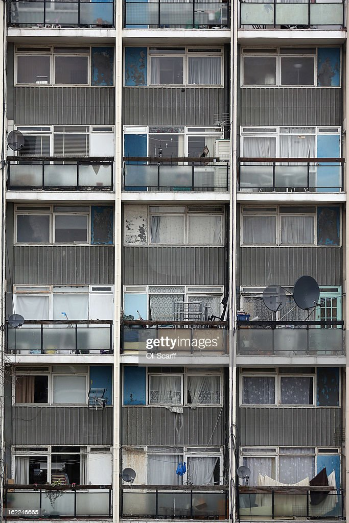 Balconies of a residential development in the London borough of Tower Hamlets on February 21, 2013 in London, England. A recent study has shown that 42 per cent of children in Tower Hamlets live in poverty, making it the worst area of the UK for child poverty. The research was carried out by the 'Campaign to End Child Poverty' who have produced a map describing levels of child poverty across the UK.