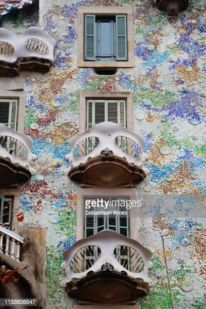 Balconies of Casa Batlló, Close Up, Barcelona, Spain
