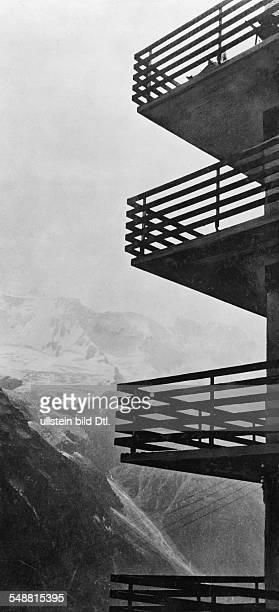 Balconies of the Hotel Alpina Muerren Architect Arnold Itten Photographer Fotografisches Atelier Ullstein Published by 'Die Dame' 17/1930 Vintage...