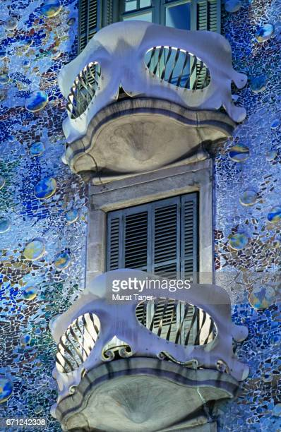 Balconies on the facade of Casa Batllo