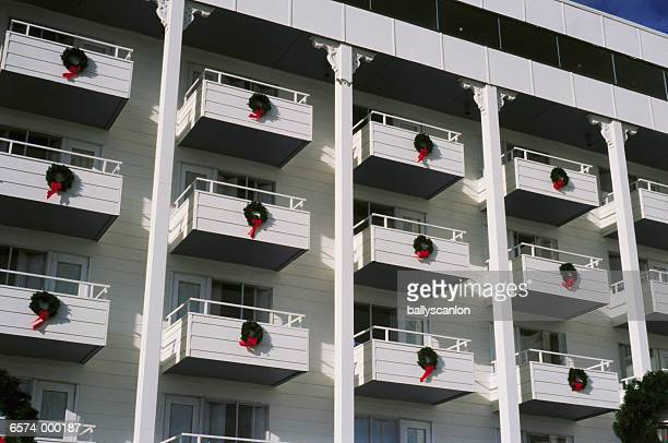 Balconies with Wreaths