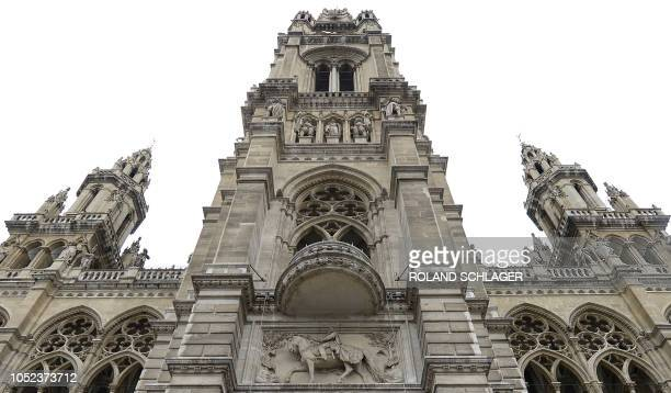 A balcony at Vienna's town hall is pictured on January 9 2015 An Austrian citizens' initiative is stirring up trouble demanding the destruction of a...