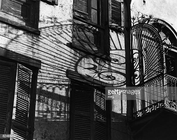A balcony guard at 520 Royal Street New Orleans circa 1930 The 'S' incorporated into the design signals the work of Francois Seignouret the French...