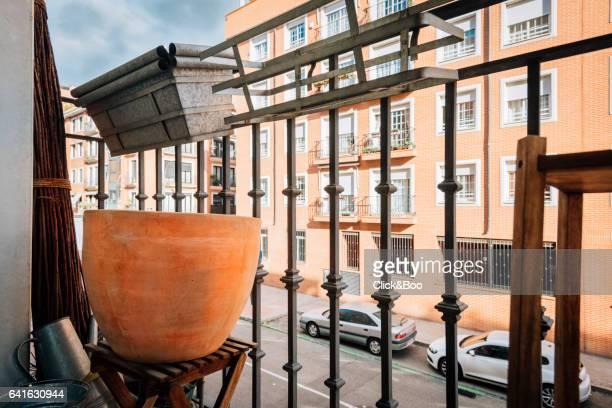 Balcony of a flat in Madrid