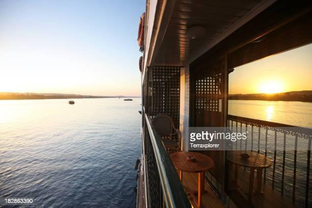 Balcony of Cruise Ship at Sunset
