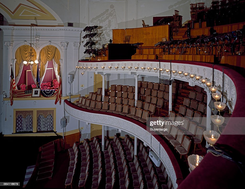 balcony of ford theatre, with view of the private box in which