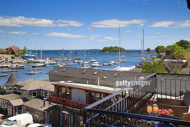 Balcony overlooking Camden Harbor