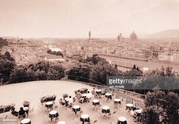 Balcony overlooking Florence, Italy