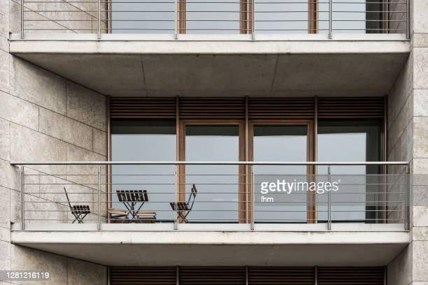balcony - building entrance stock pictures, royalty-free photos & images