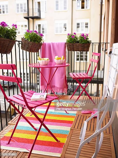 a balcony - balkon stockfoto's en -beelden