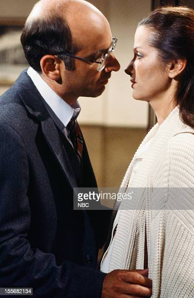BLUES 'Bald Ambition' Episode 704 Pictured George Wyner as Asstistant District Attorney Irwin Bernstein Veronica Hamel as Joyce Davenport