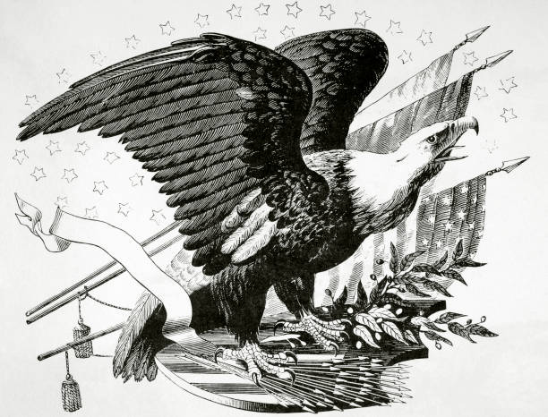 Bald Eagle And Other Patriotic Symbols Of The American Revolutionary