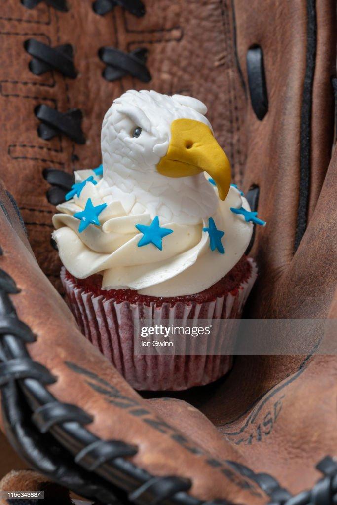 Bald Eagle Cupcake : Stock Photo