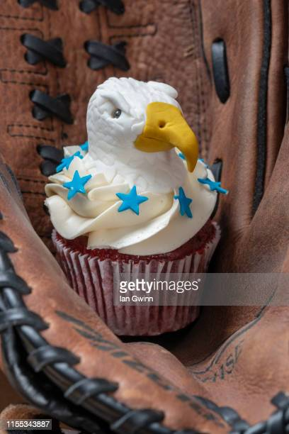 bald eagle cupcake - ian gwinn stock photos and pictures