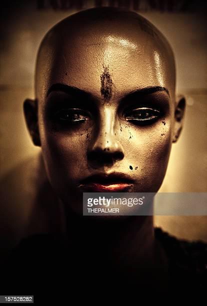 bald female mannequin head