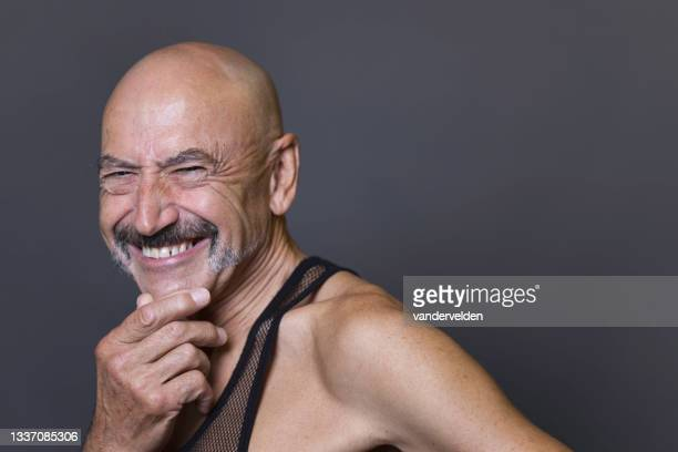 bald man in his seventies - one senior man only stock pictures, royalty-free photos & images
