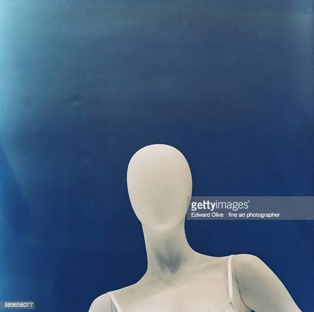 Bald shop store dummy mannequin square analog