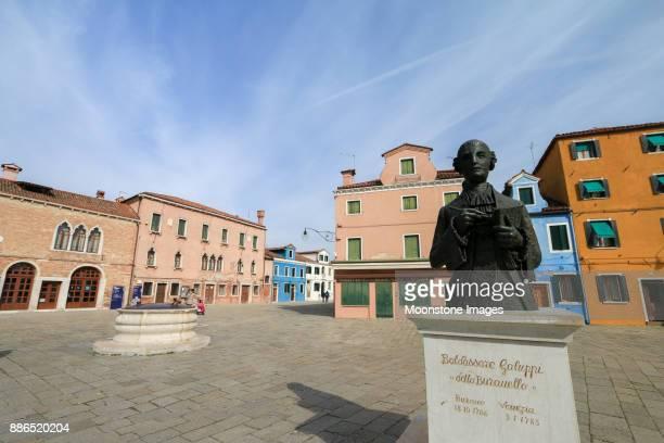 Baldassare Galuppi Statue in Burano, Venice