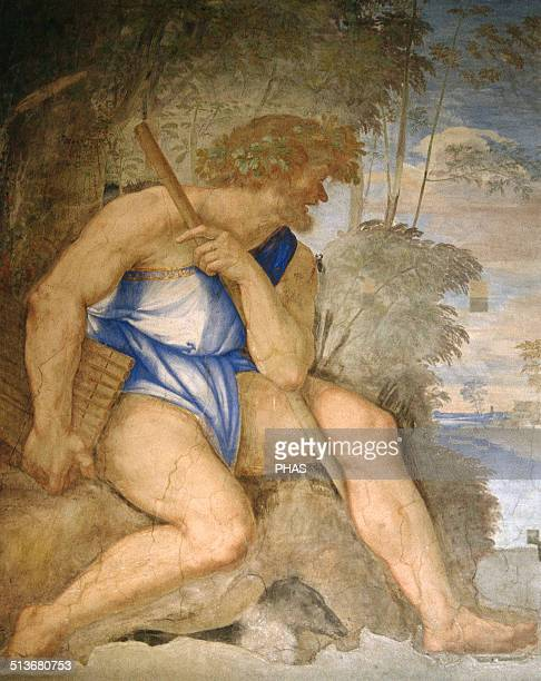 Baldassare Peruzzi Italian architect and painter Villa Farnesina Renaissance Detail Frescoes Polyphemus Cyclope Rome Italy