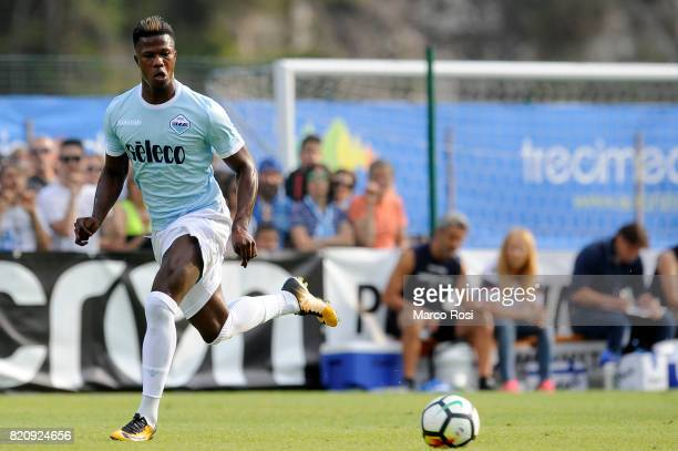 Balde Diao Keita of SS Lazio during the preseason friendly match between SS Lazio and SPAL on July 22 2017 in Pieve di Cadore Italy