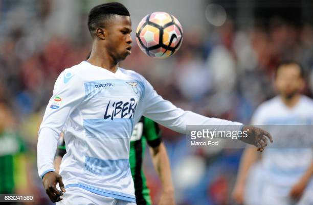 Balde Diao Keita of SS Lazio during the Serie A match between US Sassuolo and SS Lazio at Mapei Stadium Citta' del Tricolore on April 1 2017 in...