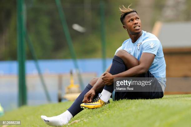 Balde Diao Keita of SS Lazio during the SS Lazio traning Camp Day 3 on July 11 2017 in Pieve di Cadore Italy