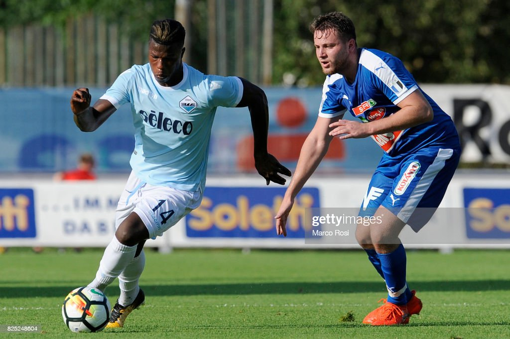 Balde Diao Keita of SS Lazio in action during the pre-season friendly match between SS Lazio and F.C Kufstein on August 1, 2017 in Kufstein, Austria.
