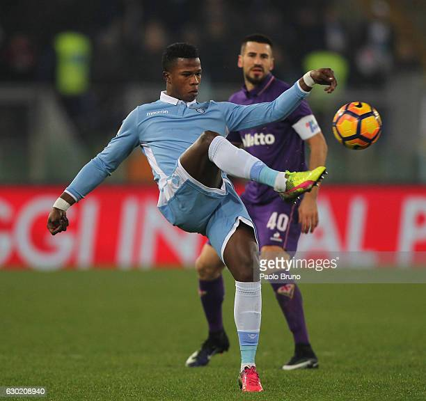 Balde Diao Keita of SS Lazio in action during the Serie A match between SS Lazio and ACF Fiorentina at Stadio Olimpico on December 18 2016 in Rome...
