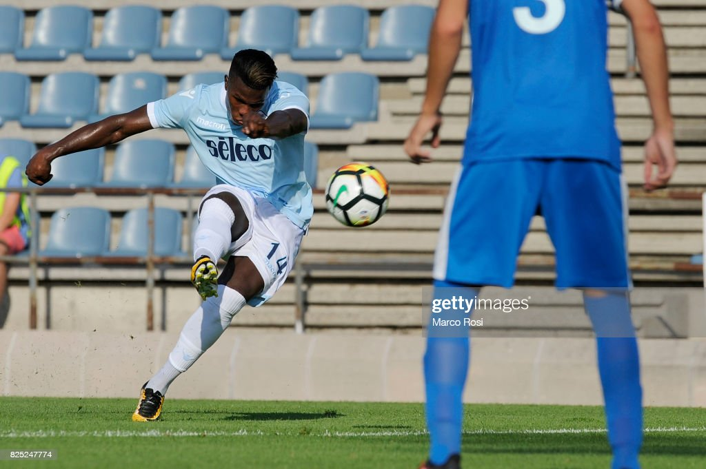 Balde Diao Keita of SS Lazio scores their second goal during the pre-season friendly match between SS Lazio and F.C Kufstein on August 1, 2017 in Kufstein, Austria.