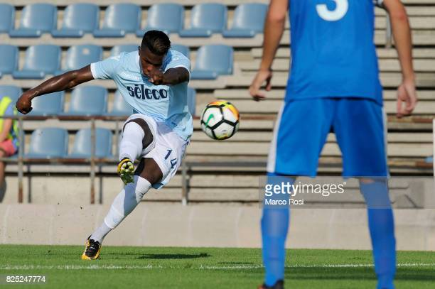 Balde Diao Keita of SS Lazio scores their second goal during the preseason friendly match between SS Lazio and FC Kufstein on August 1 2017 in...