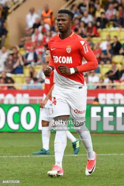 Balde Keita of Monaco during the Ligue 1 match between AS Monaco and Strasbourg at Stade Louis II on September 16 2017 in Monaco
