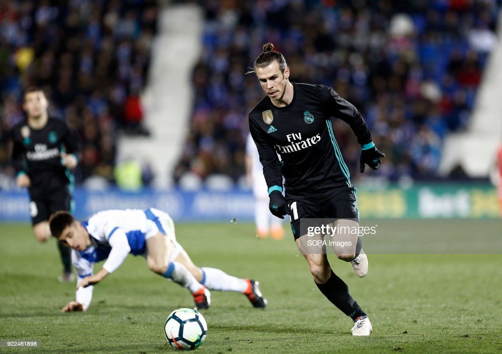 BUTARQUE, LEGANES, MADRID, SPAIN - : Bale (Real Madrid) during the La Liga Santander match between Leganes vs Real Madrid at the Estadio Butarque. Final Score Leganes 1 Real Madrid 3.