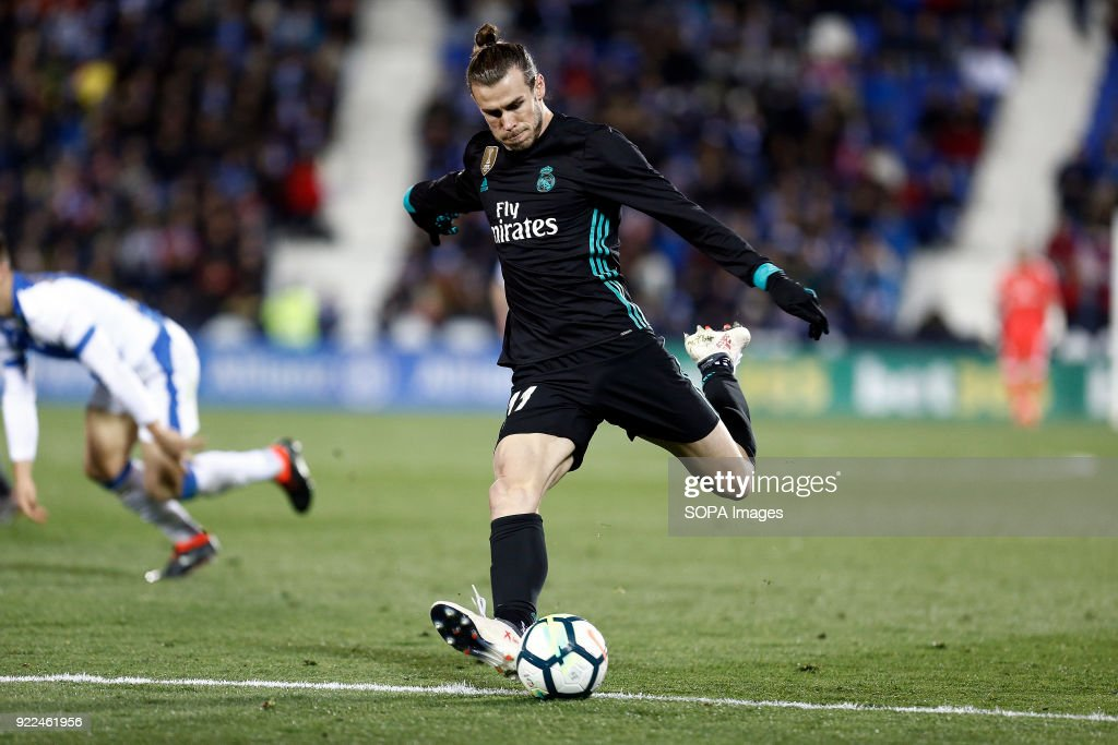 Bale (Real Madrid) during the La Liga Santander  match... : Fotografía de noticias