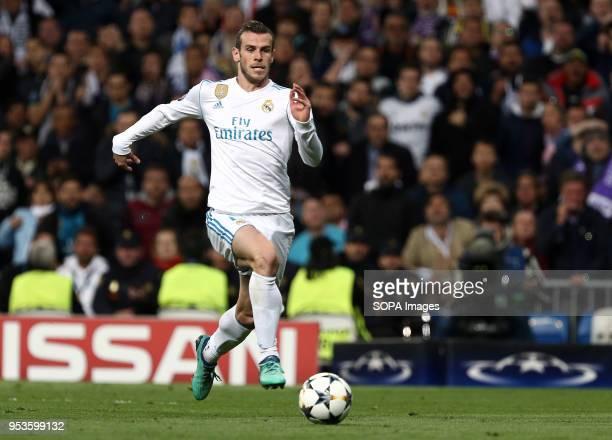 Bale during the UEFA Champions League Semi Final Second Leg match between Real Madrid and Bayern Munchen at the Santiago Bernabeu Final Score