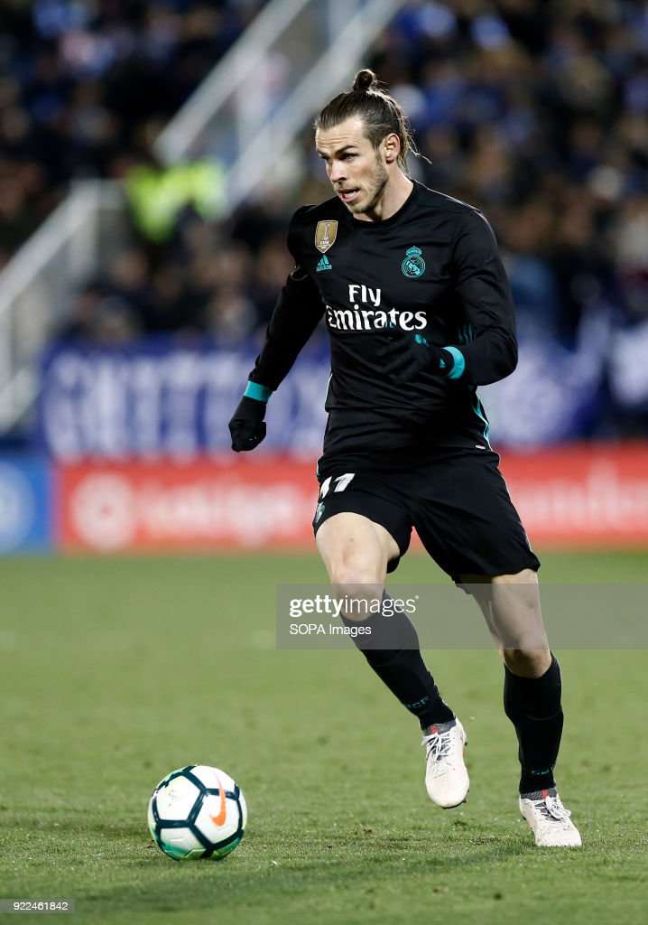 BUTARQUE, LEGANES, MADRID, SPAIN - : Bale (Real Madrid) in action during the match between Leganes vs Real Madrid at the Estadio Butarque. Final Score Leganes 1 Real Madrid 3.