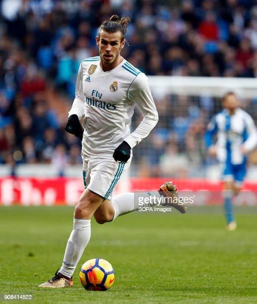 Bale in action during the match Real Madrid faced Deportivo de la Coruña at the Santiago Bernabeu stadium during the Spanish league game 'La Liga'...