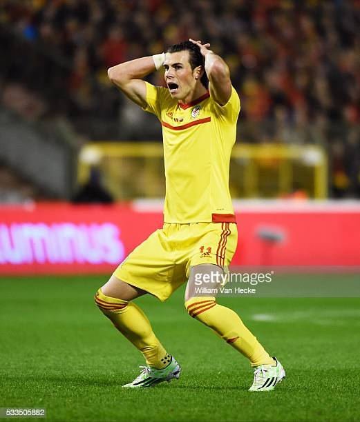 Bale pictured during the UEFA EURO 2016 Group B qualifying match between Belgium and Wales at the King Baudouin stadium in Brussels Belgium