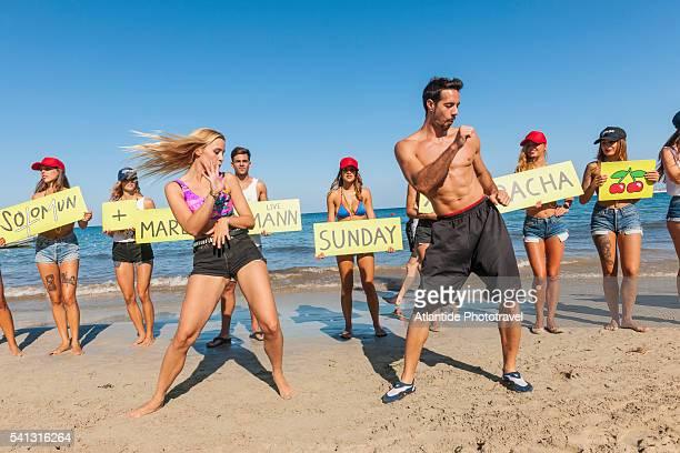 Balearic Islands - advertising for Pacha discotheque along the beach of Platja d'en Bossa