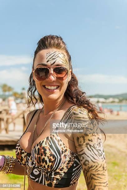 Balearic Islands - Kiss me Fairy body painting