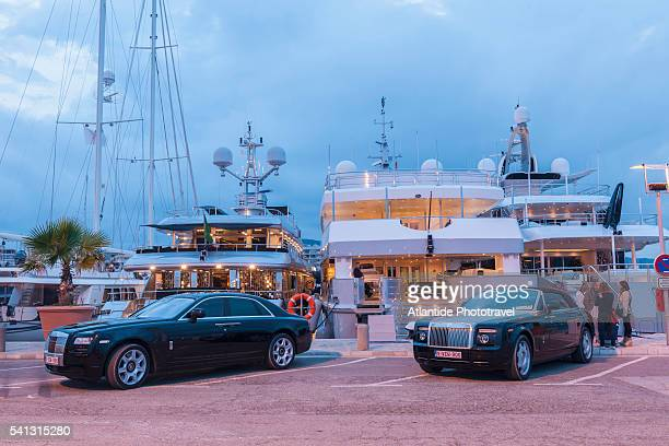 Balearic Islands - luxury yachts and cars in the port