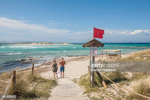 balearic islands - ses illetes beach, es pas - balearic islands stock pictures, royalty-free photos & images