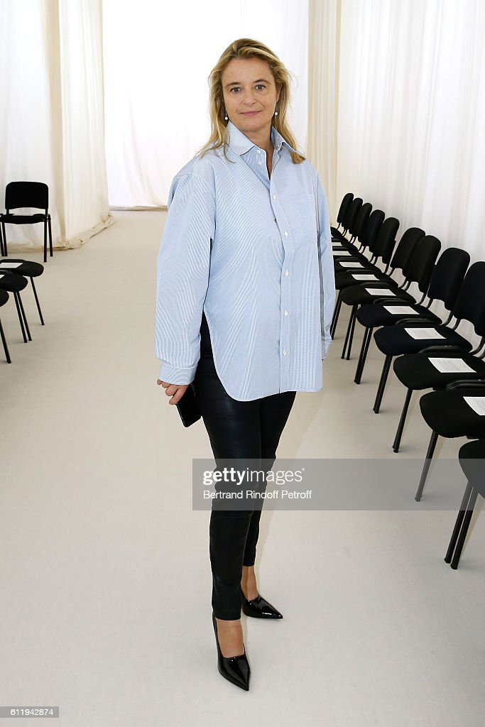 Balenciaga Isabelle Guichot attends the Balenciaga show as part of the Paris Fashion Week Womenswear Spring/Summer 2017 on October 2, 2016 in Paris, France.